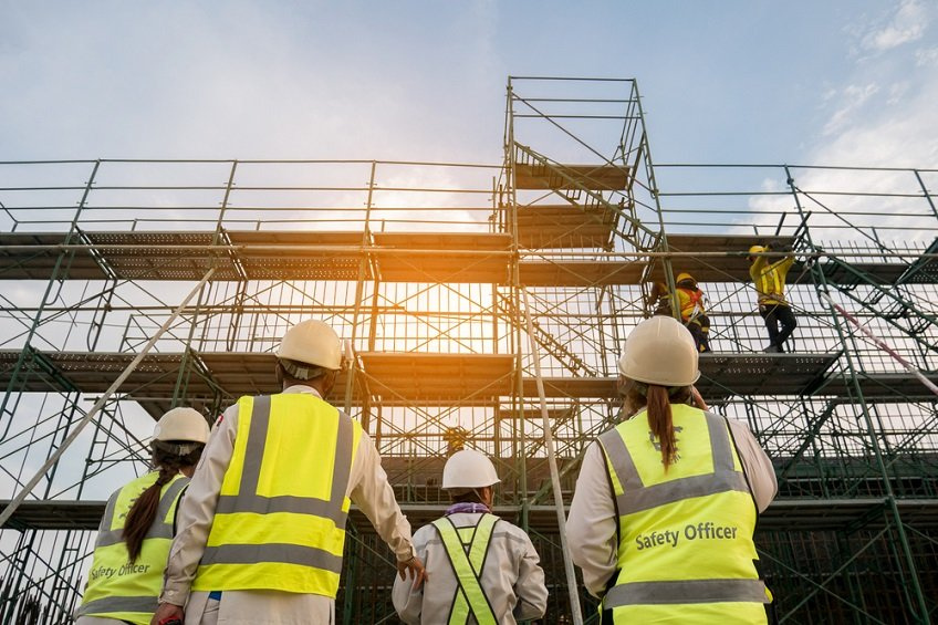 What is the beneficial use of scaffolding for construction?